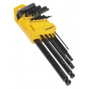 Sealey Ball-End Hex Key Set 9pc Long Imperial Model No-20389