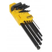 Sealey Ball-End Hex Key Set 9pc Long Metric Model No-20380