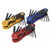 Sealey Folding Key Set 3pc Model No-. S01072
