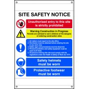 Site safety notice composite - BAN (670 x 1000mm)