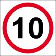 10mph (speed limit) - FMX (400 x 400mm)
