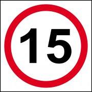 15mph (speed limit) - FMX (400 x 400mm)