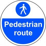 400mm dia. Pedestrian Route Floor Graphic