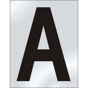 50mm Pol. Chrome Effect - Character 'A'