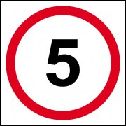 5mph (speed limit) - FMX (400 x 400mm)