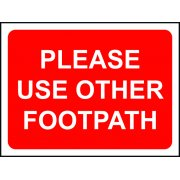 600 x 450mm Temporary Sign & Frame - Please Use Other Footpath