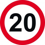 600mm dia. Dibond 20mph Road Sign (with channel)