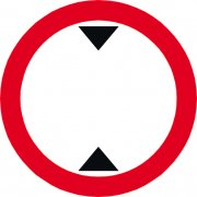 600mm dia. Dibond 'Height Restriction...' Road Sign (with channel)