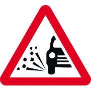 600mm tri. Dibond 'Loose Gravel' Road Sign (without channel)