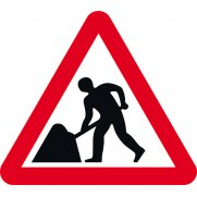 600mm tri. Dibond 'Men at Work' Road Sign (without channel)