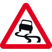 600mm tri. Dibond 'Slippery surface' Road Sign (without channel)