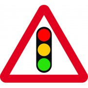 600mm tri. Dibond 'Traffic Lights' Road Sign (without channel)
