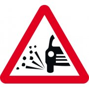 600mm tri. Temporary Sign - Loose Gravel