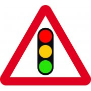600mm tri. Temporary Sign - Traffic Lights