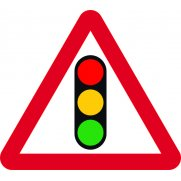 750mm tri. Temporary Sign & Frame - Traffic Lights