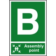 Assembly Point B - PVC (200 x 300mm)