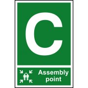 Assembly Point C - PVC (200 x 300mm)