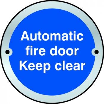 Spectrum Industrial Automatic fire door Keep clear door disc - SSS (75mm dia.)
