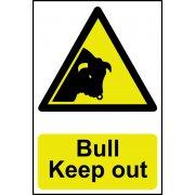 Bull Keep out - Corex (200 x 300mm)