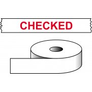 Checked - printed tape (50mm x 66m)