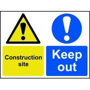 Construction site Keep out - Correx (600 x 450mm)