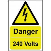 Danger 240 volts - RPVC (200 x 300mm)