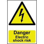 Danger Electric shock risk - PVC (200 x 300mm)