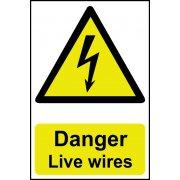 Danger Live wires - PVC (200 x 300mm)
