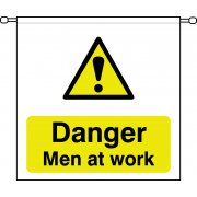 Danger Men at work - Barrier Sign (760 x 760mm)
