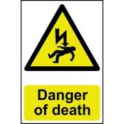 Danger of death - PVC (200 x 300mm)