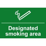 Designated smoking area - PVC (300 x 200mm)