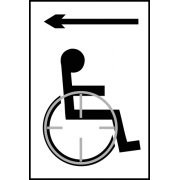 Disabled arrow left - Taktyle (150 x 225mm)