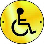 Disabled graphic door disc - PSS (75mm dia.)