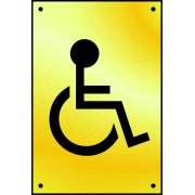 Disabled graphic door plate - PB (100 x 150mm)