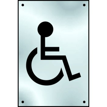 Spectrum Industrial Disabled graphic door plate - SSS (100 x 150mm)