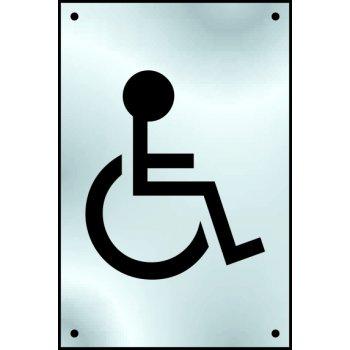 Spectrum Industrial Disabled graphic door plate - SSS (100 x 150mm)