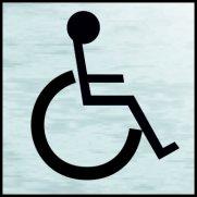 Disabled symbol - BRS (120 x 122mm)