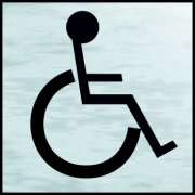 Disabled symbol - BRS (120 x 122mm)