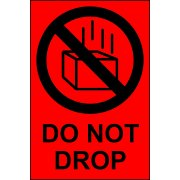 Do not drop - Paper Packaging Labels (100 x 150mm Roll of 1000)