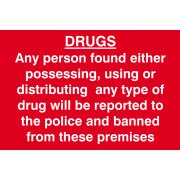 DRUGS Any person found either possessing, using or distributing? - PVC (300 x 200mm)