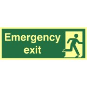Emergency exit - Photolum. (400 x 150mm)