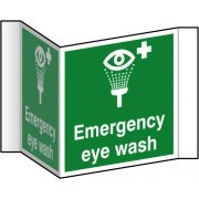 Emergency eye wash (Projection sign) - RPVC (200mm face)