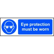Eye protection must be worn - SAV (600 x 200mm)