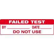 Failed Test - SAP (51 x 15mm, sheet of 80 labels)