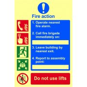 Fire action procedure - PHO (200 x 300mm)