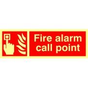 Fire alarm call point - Photolum. (300 x 100mm)