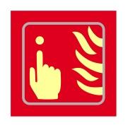 Fire alarm graphic - TaktylePh (150 x 150mm)