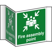 Fire assembly point (Projection sign) - RPVC (200mm face)