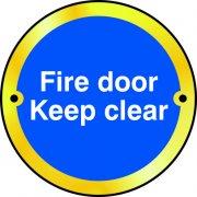 Fire door Keep clear door disc - PSS (75mm dia.)
