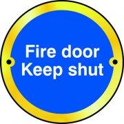 Fire door Keep shut door disc - PSS (75mm dia.)
